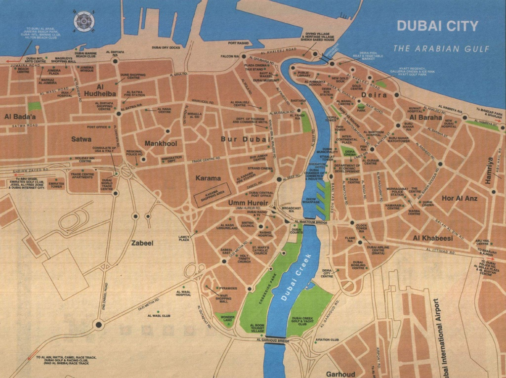 Large Dubai Maps For Free Download And Print | High-Resolution And - Printable Map Of Dubai