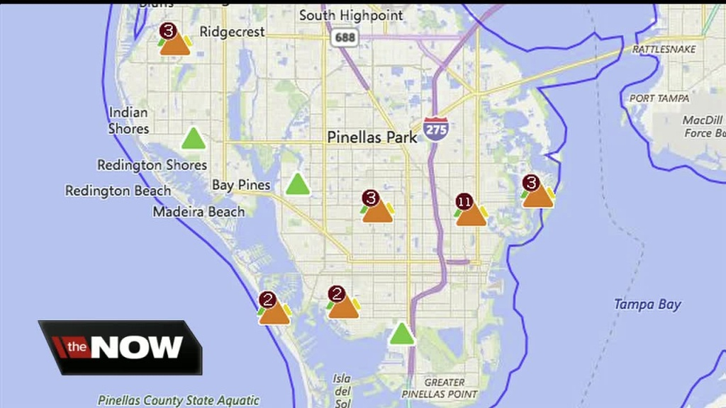 Large Duke Energy Power Outage Disrupts Traffic Signals In St. Pete - Duke Outage Map Florida