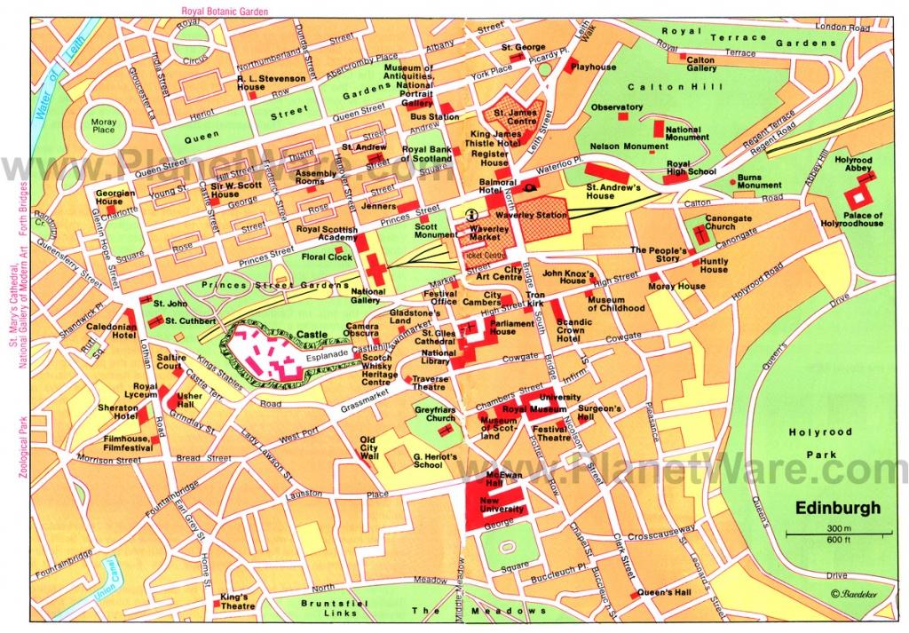 Large Edinburgh Maps For Free Download And Print   High-Resolution - Edinburgh City Map Printable