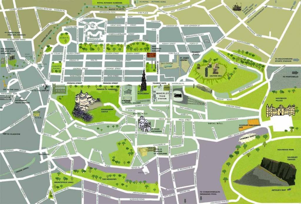 Large Edinburgh Maps For Free Download And Print   High-Resolution - Printable Map Of Edinburgh