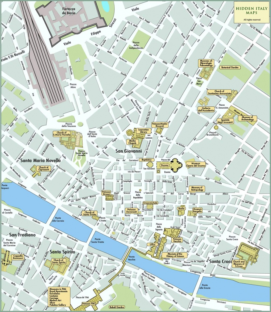 Large Florence Maps For Free Download And Print   High-Resolution - Printable Map Of Florence Italy
