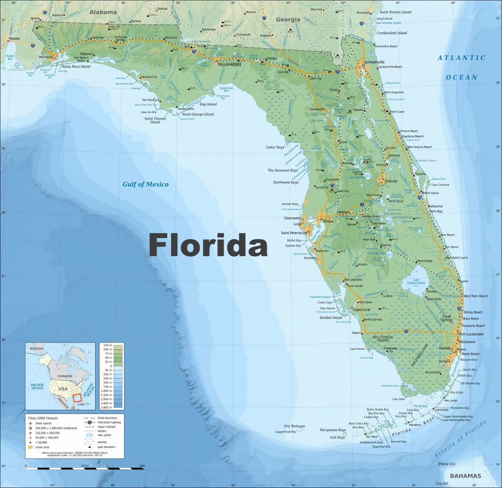 Large Florida Maps For Free Download And Print | High-Resolution And - Printable Map Of Florida Cities