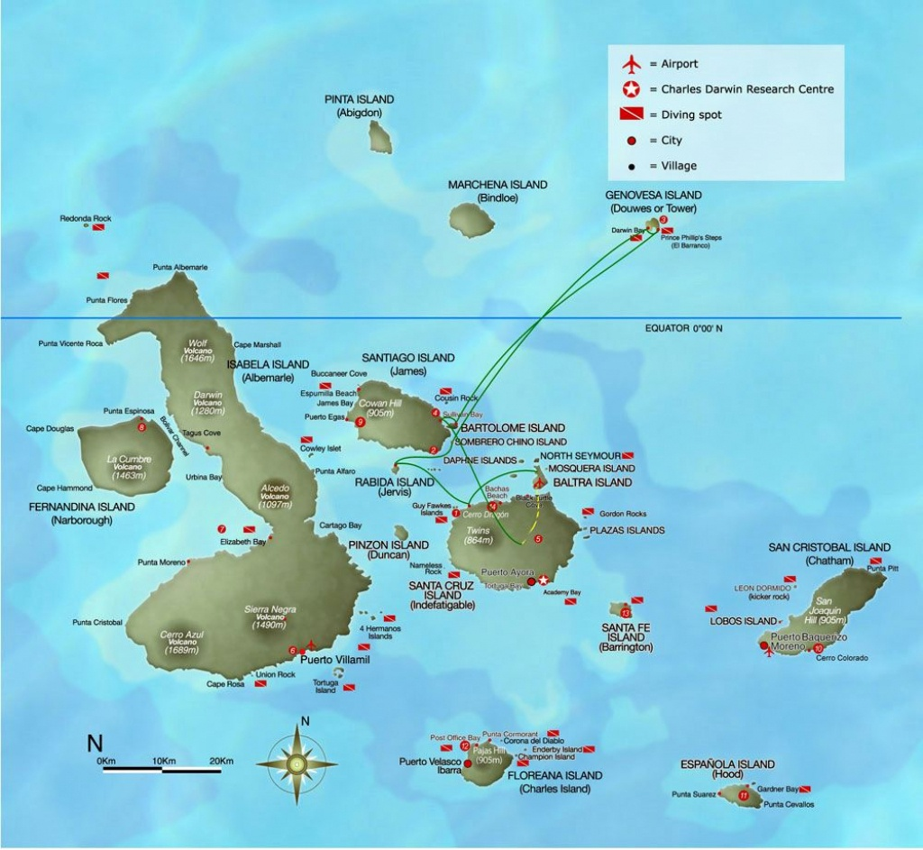 Large Galapagos Maps For Free Download And Print | High-Resolution - Printable Map Of Galapagos Islands