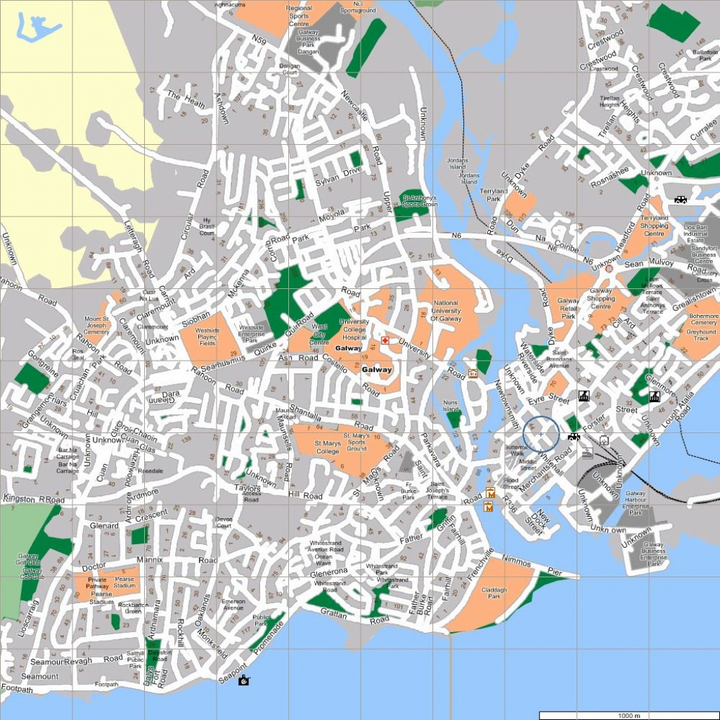 Large Galway Maps For Free Download And Print | High-Resolution And - Galway City Map Printable