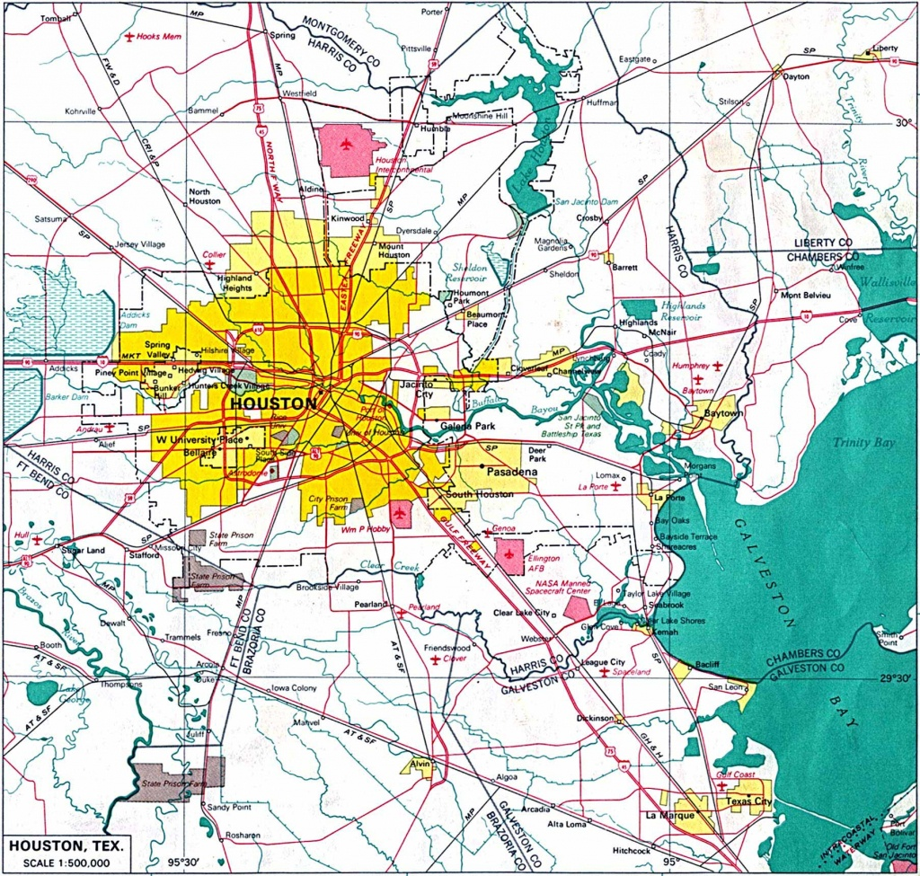 Large Houston Maps For Free Download And Print | High-Resolution And - Road Map Of Houston Texas