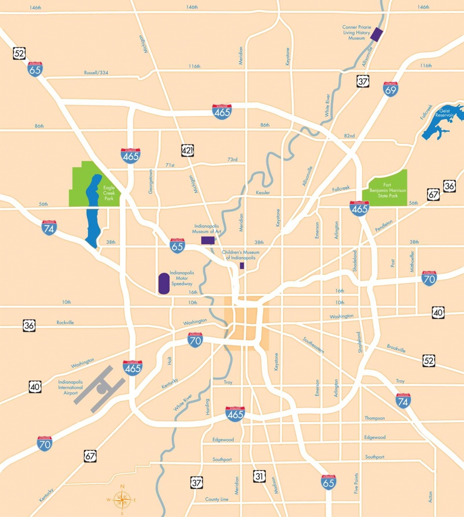 Large Indianapolis Maps For Free Download And Print | High - Printable Map Of Indianapolis