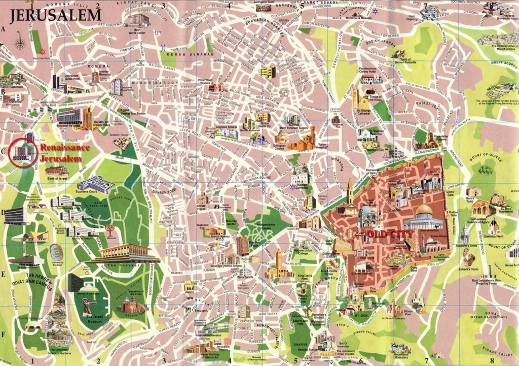 Large Jerusalem Maps For Free Download And Print | High-Resolution - Free Printable Aerial Maps