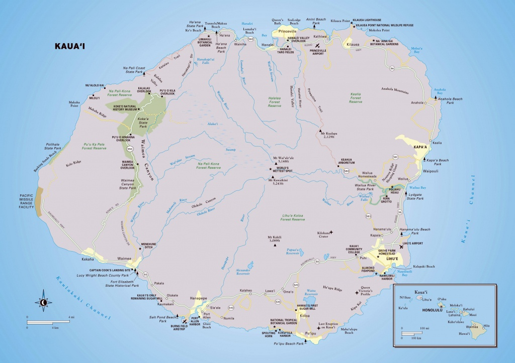 Large Kauai Island Maps For Free Download And Print | High - Printable Driving Map Of Kauai