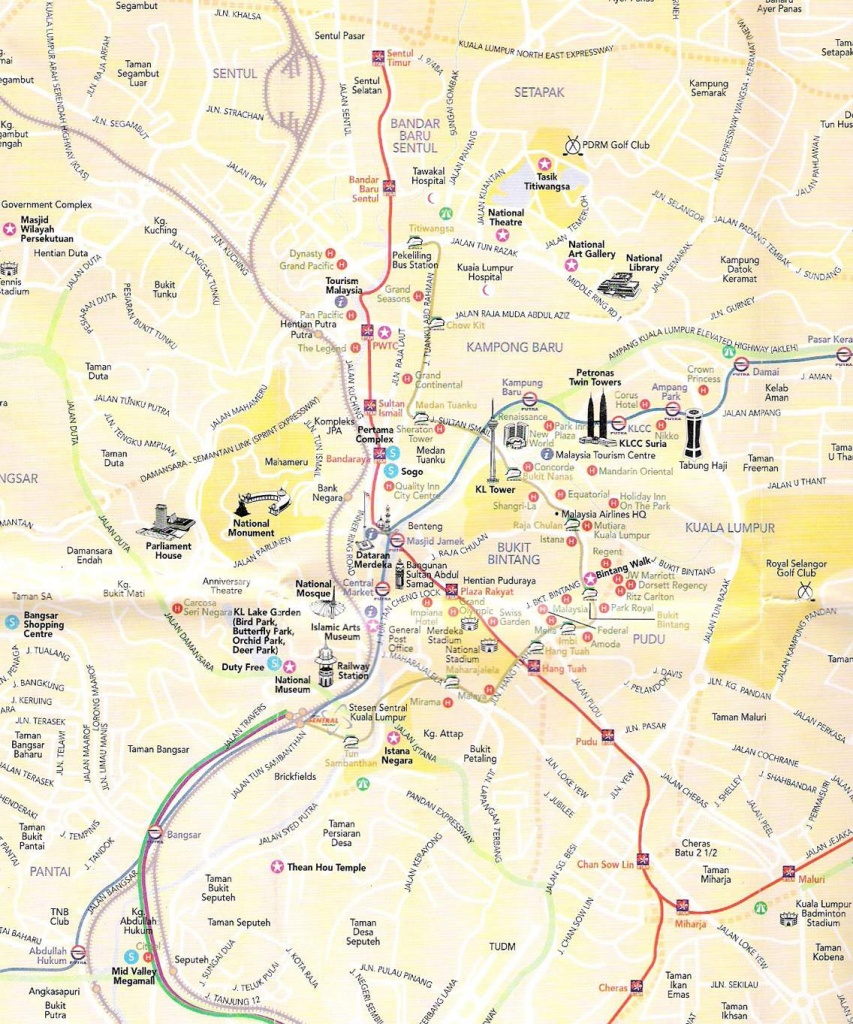 Large Kuala Lumpur Maps For Free Download And Print | High - Melaka Tourist Map Printable
