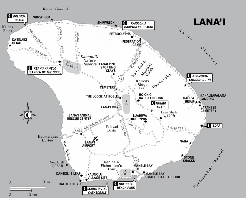 Large Lanai Maps For Free Download And Print | High-Resolution And - Printable Road Map Of Kauai