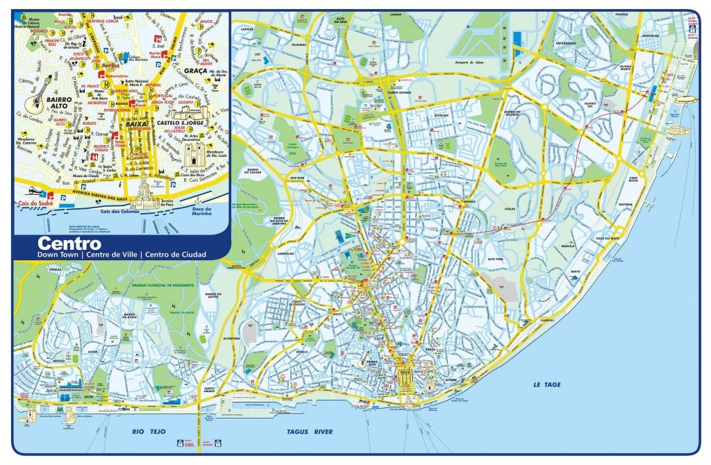 Large Lisbon Maps For Free Download And Print   High-Resolution And - Lisbon Metro Map Printable