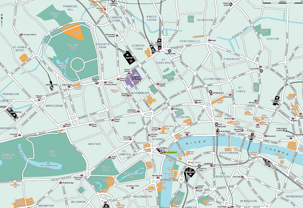 Large London Maps For Free Download And Print   High-Resolution And - Central London Map Printable