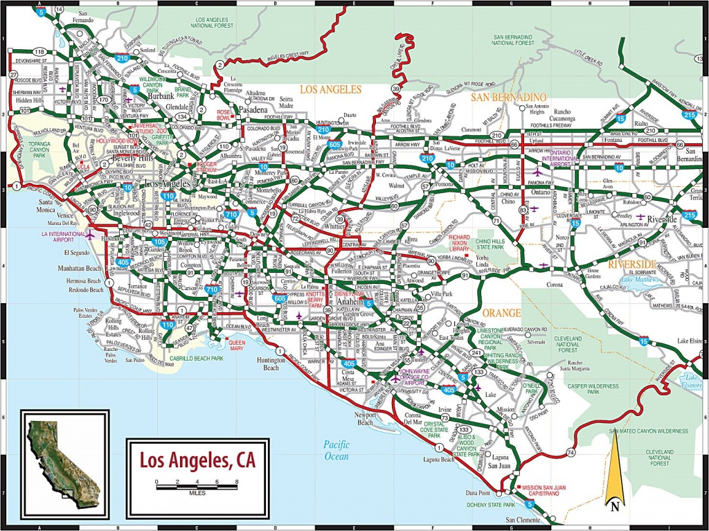 Large Los Angeles Maps For Free Download And Print   High-Resolution - Map Of Los Angeles California Area