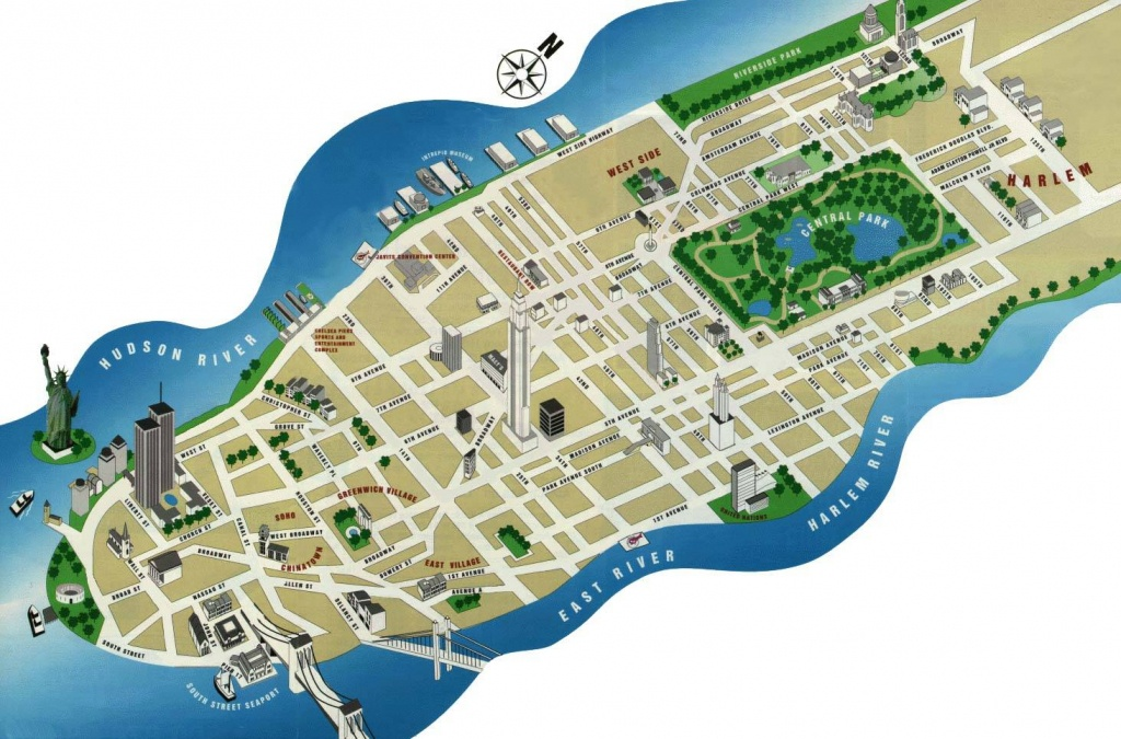 Large Manhattan Maps For Free Download And Print | High-Resolution - Map Of Nyc Attractions Printable