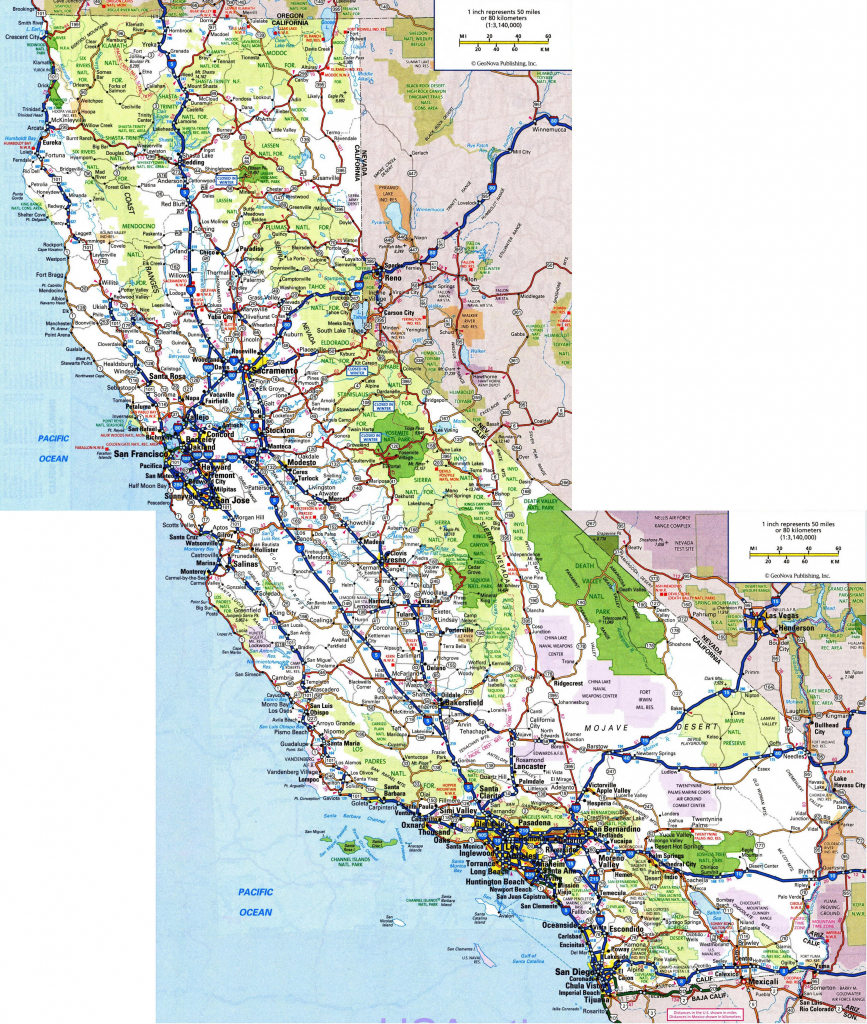 Large Map Of California Cities Reference Us Map California Cities - Full Map Of California