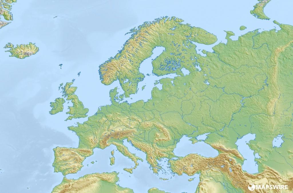 Large Map Of Europe Printable | Sitedesignco - Large Map Of Europe Printable