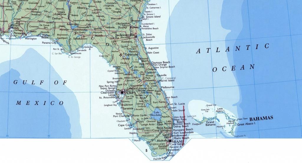 Large Map Of Florida State. Florida State Large Map | Vidiani - Large Map Of Florida