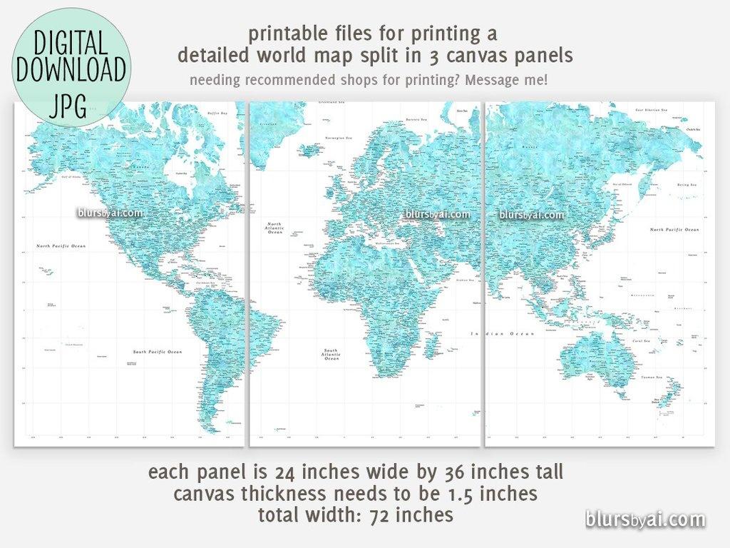 Large Map Print | M3U8 - Large Printable Map