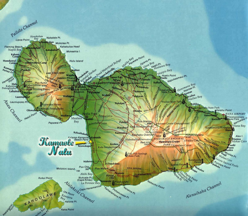 Large Maui Maps For Free Download And Print | High-Resolution And - Maui Road Map Printable
