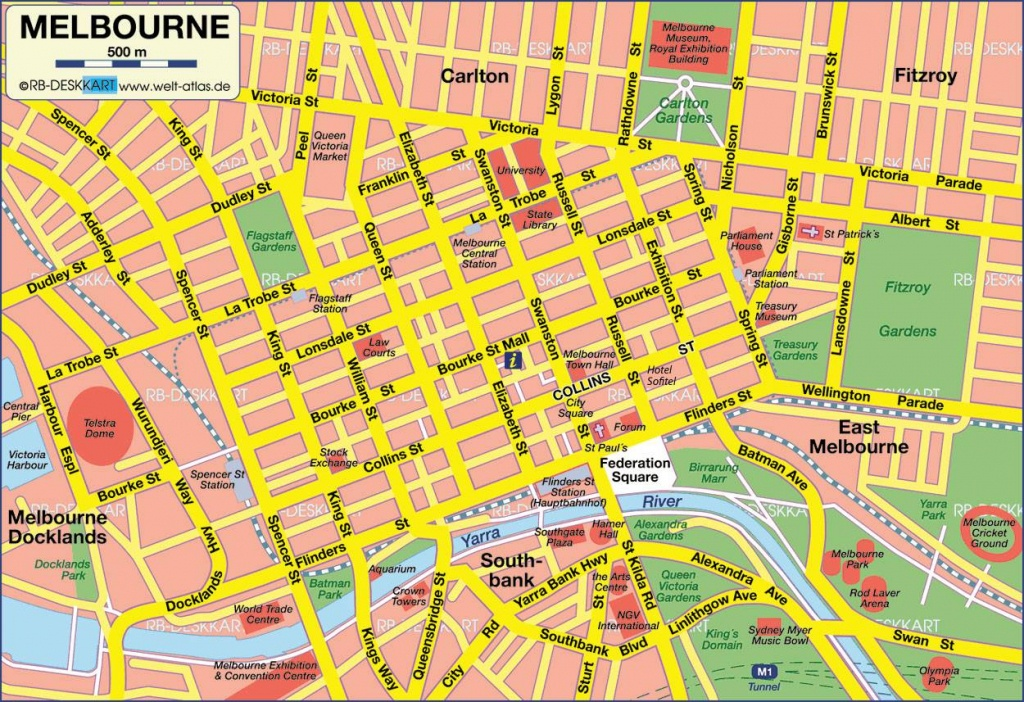 Large Melbourne Maps For Free Download And Print   High-Resolution - Melbourne Tourist Map Printable