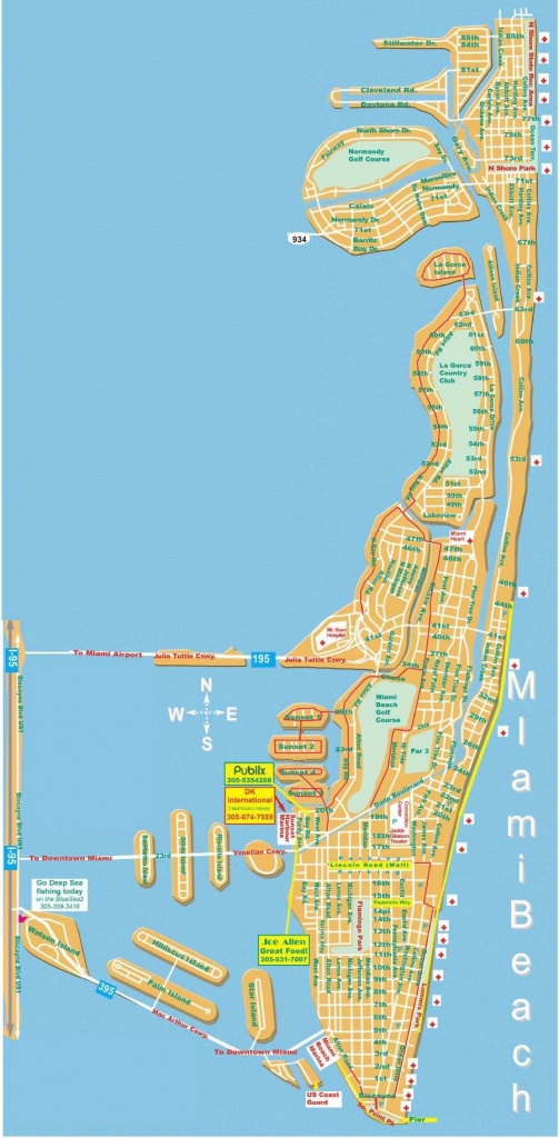 Large Miami Beach Maps For Free Download | High-Resolution And - Map Of Miami Beach Florida Hotels