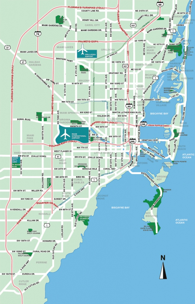 Large Miami Maps For Free Download And Print | High-Resolution And - Map Of Miami Florida And Surrounding Areas