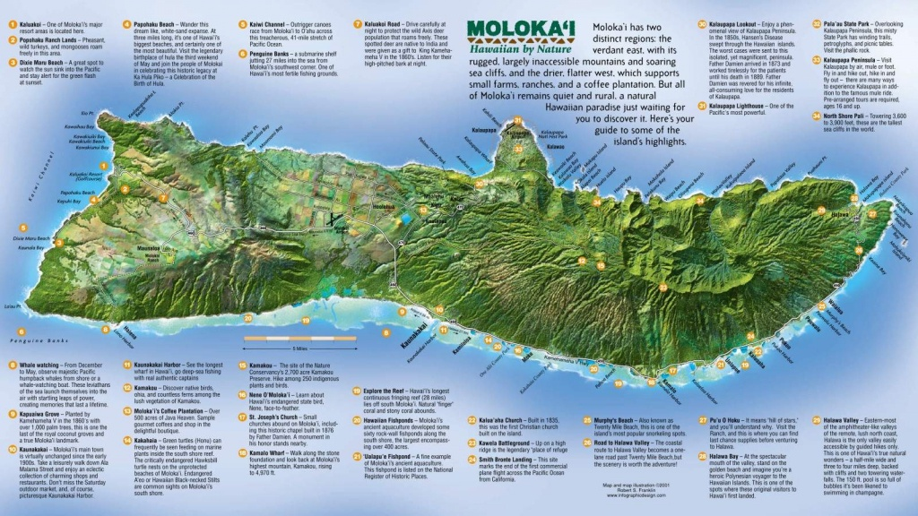 Large Molokai Maps For Free Download And Print | High-Resolution And - Molokai Map Printable