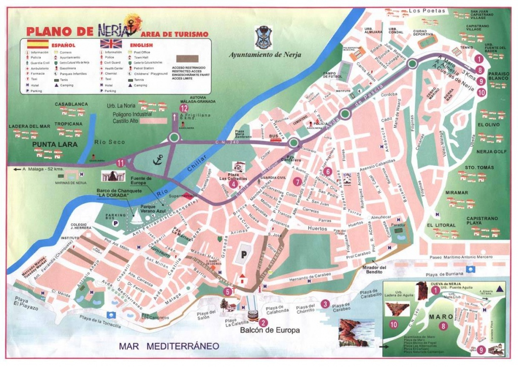 Large Nerja Maps For Free Download And Print | High-Resolution And - Printable Street Map Of Nerja Spain