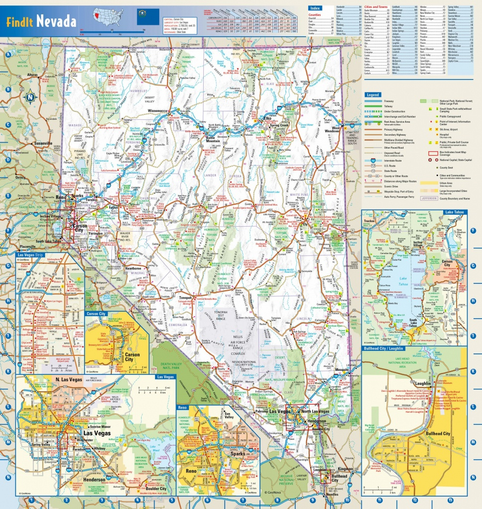 Large Nevada Maps For Free Download And Print | High-Resolution And - Road Map Of California Nevada And Arizona