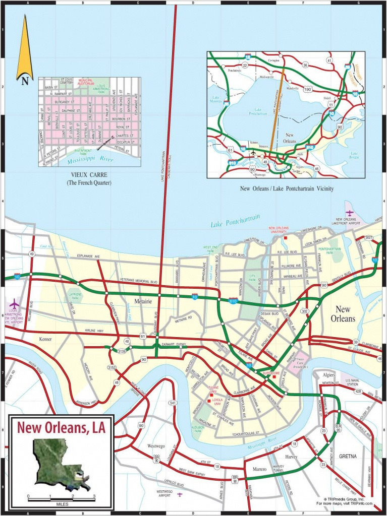 Large New Orleans Maps For Free Download And Print   High-Resolution - Printable Map Of New Orleans
