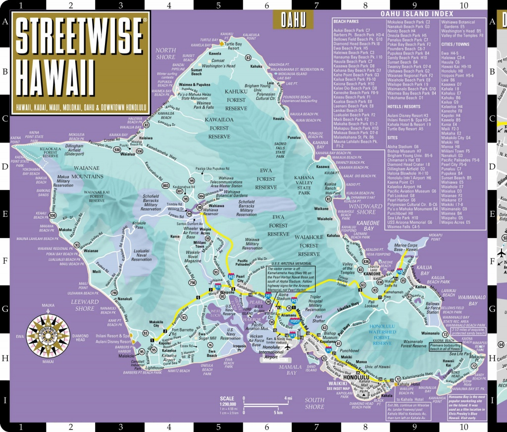 Large Oahu Island Maps For Free Download And Print   High-Resolution - Printable Map Of Waikiki