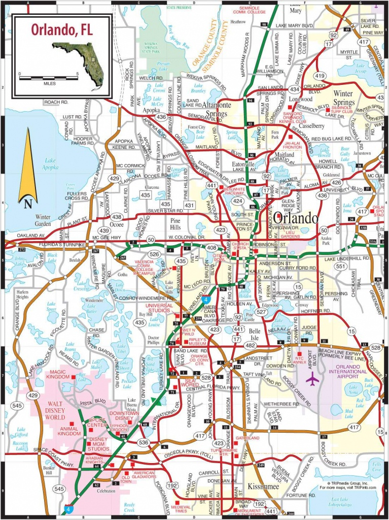 Large Orlando Maps For Free Download And Print   High-Resolution And - Orlando Florida Location On Map