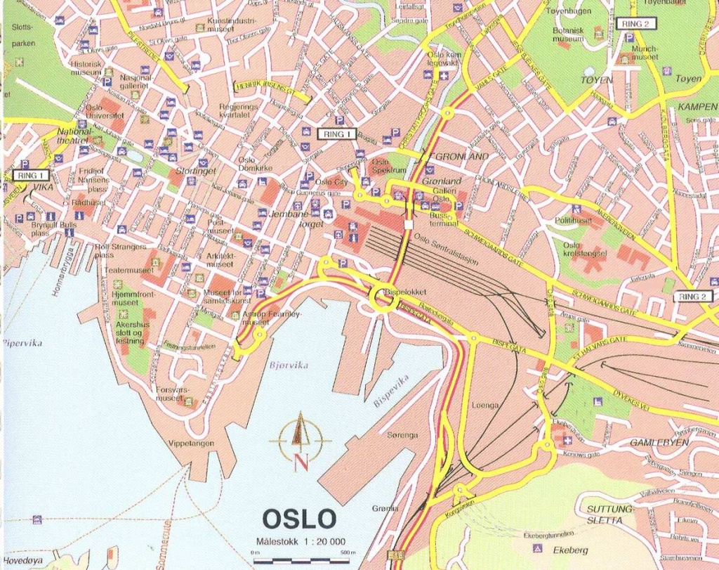 Large Oslo Maps For Free Download And Print | High-Resolution And - Oslo Map Printable