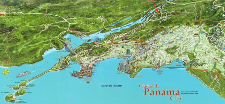 Printable Map Of Panama