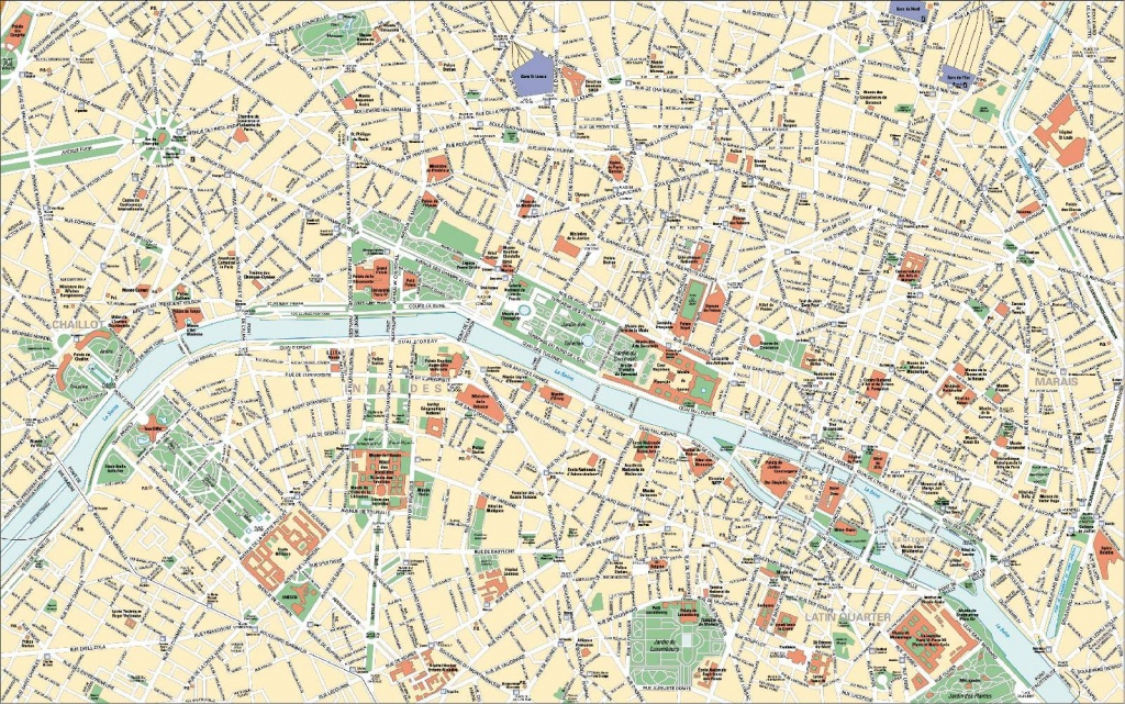 Large Paris Maps For Free Download And Print   High-Resolution And - Printable Map Of Paris France