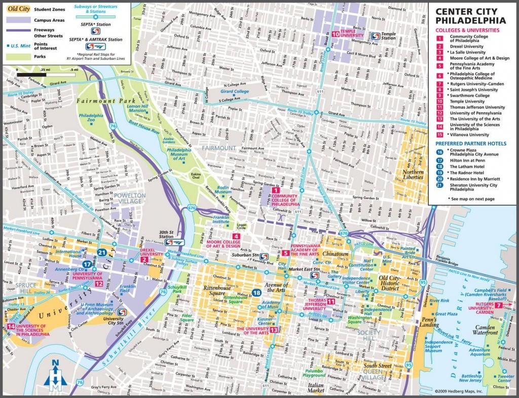 Large Philadelphia Maps For Free Download And Print | High - Philadelphia City Map Printable