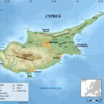 Large Physical Map Of Cyprus   Printable Map Of Cyprus