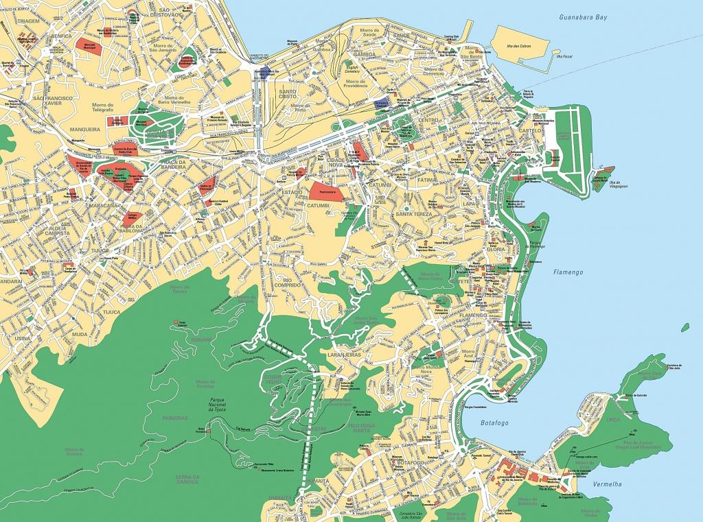 Large Rio De Janeiro Maps For Free Download And Print | High - Printable Map Of Rio De Janeiro