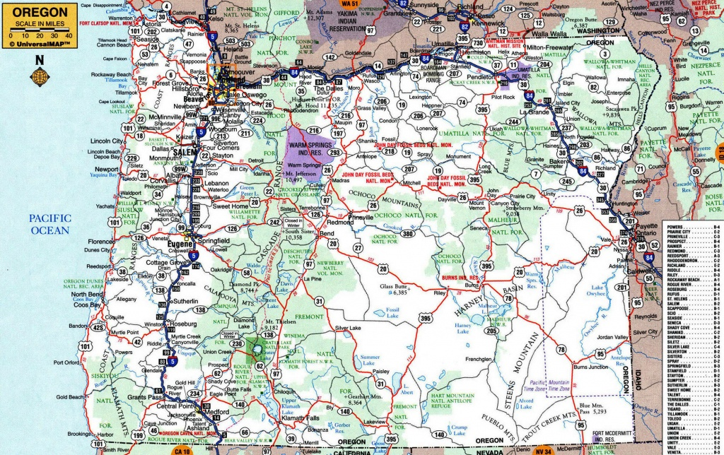 Large Roads And Highways Map Of Oregon State With Cities Awesome - Oregon Road Map Printable