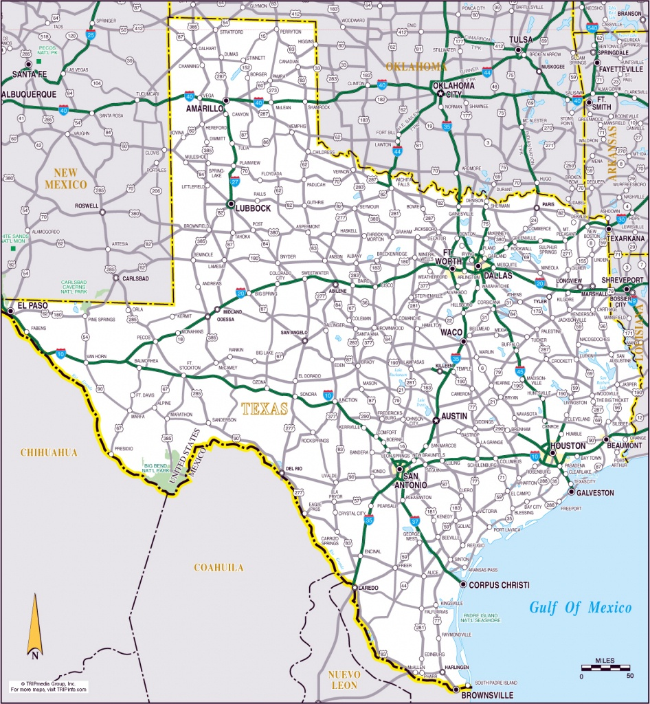 Large Roads And Highways Map Of The State Of Texas | Vidiani - Texas Highway 183 Map