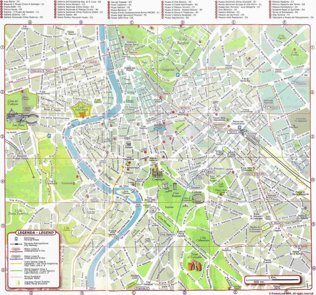Large Rome Maps For Free Download And Print | High-Resolution And - Printable Map Of Rome Attractions
