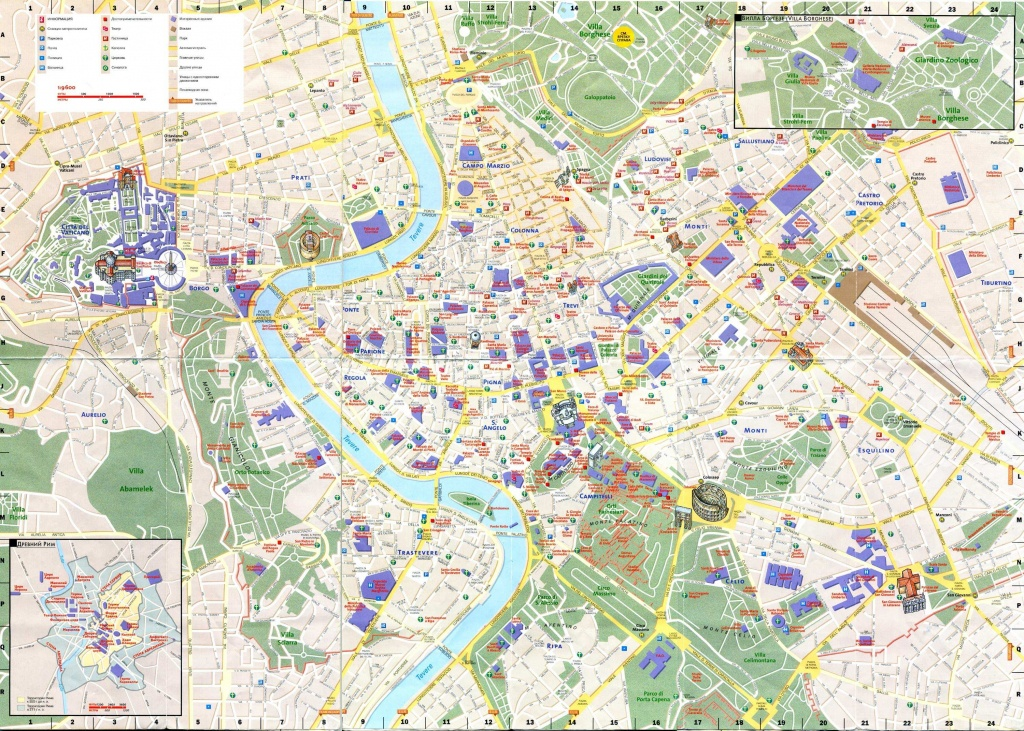 Large Rome Maps For Free Download And Print   High-Resolution And - Printable Walking Map Of Rome