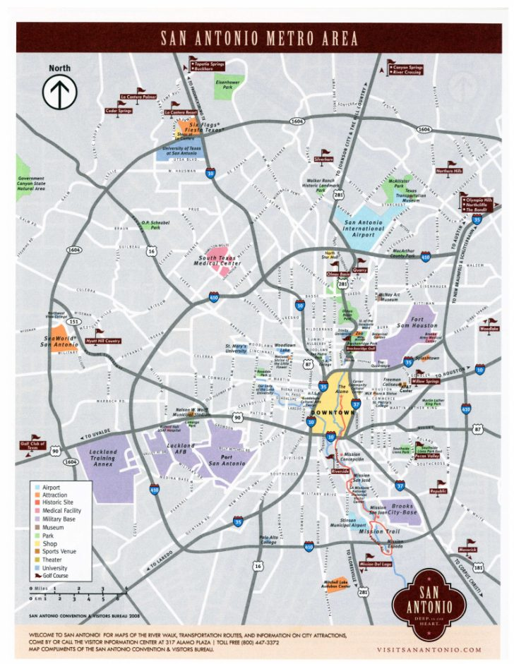 Map Of Downtown San Antonio Texas