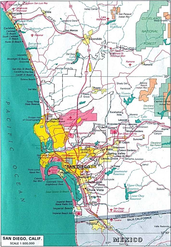 Large San Diego Maps For Free Download And Print | High-Resolution - Detailed Map Of San Diego California