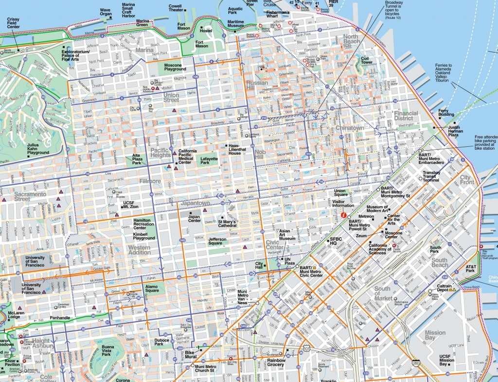 Large San Francisco Maps For Free Download And Print   High - Map Of San Francisco Attractions Printable