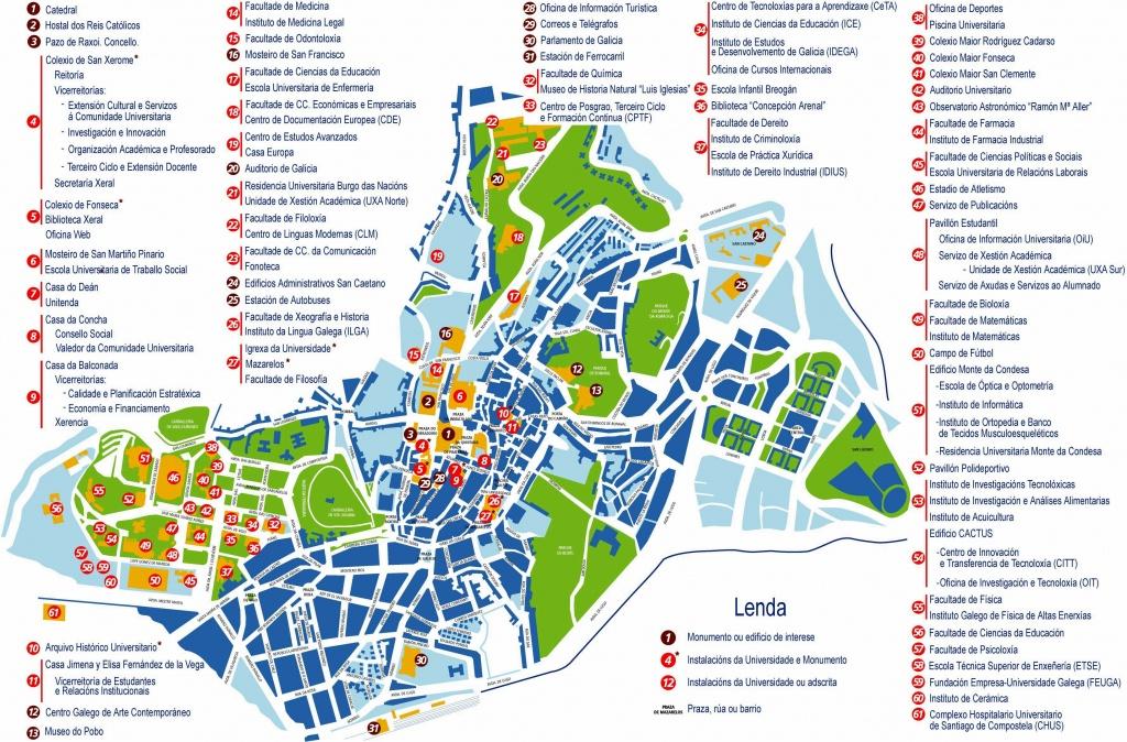 Large Santiago De Compostela Maps For Free Download And Print   High - Printable Map Of Camino De Santiago