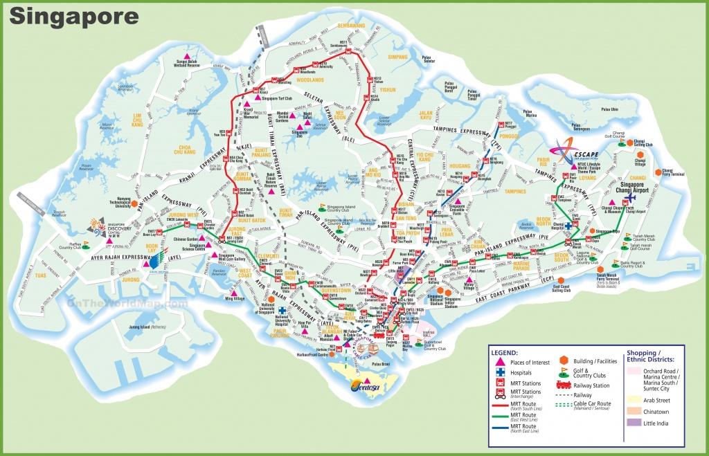 Large Transport Map Of Singapore - Printable Map Of Singapore