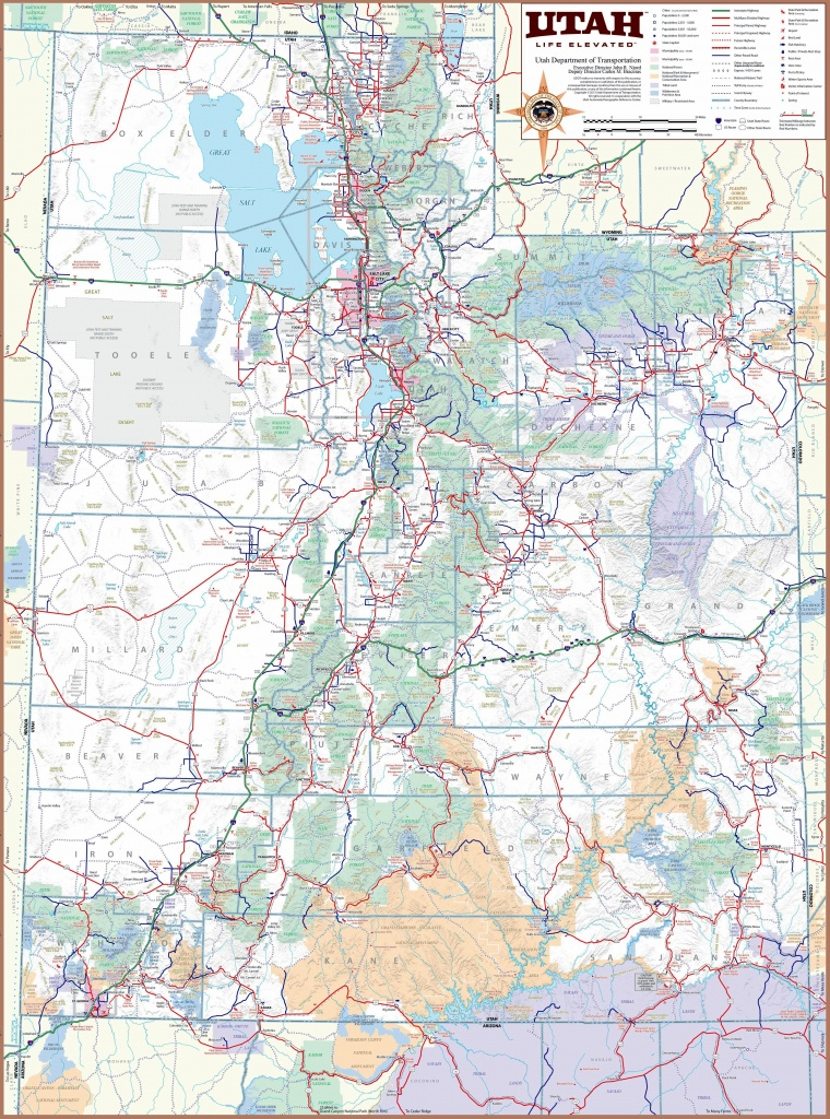 Large Utah Maps For Free Download And Print   High-Resolution And - Printable Map Of St George Utah