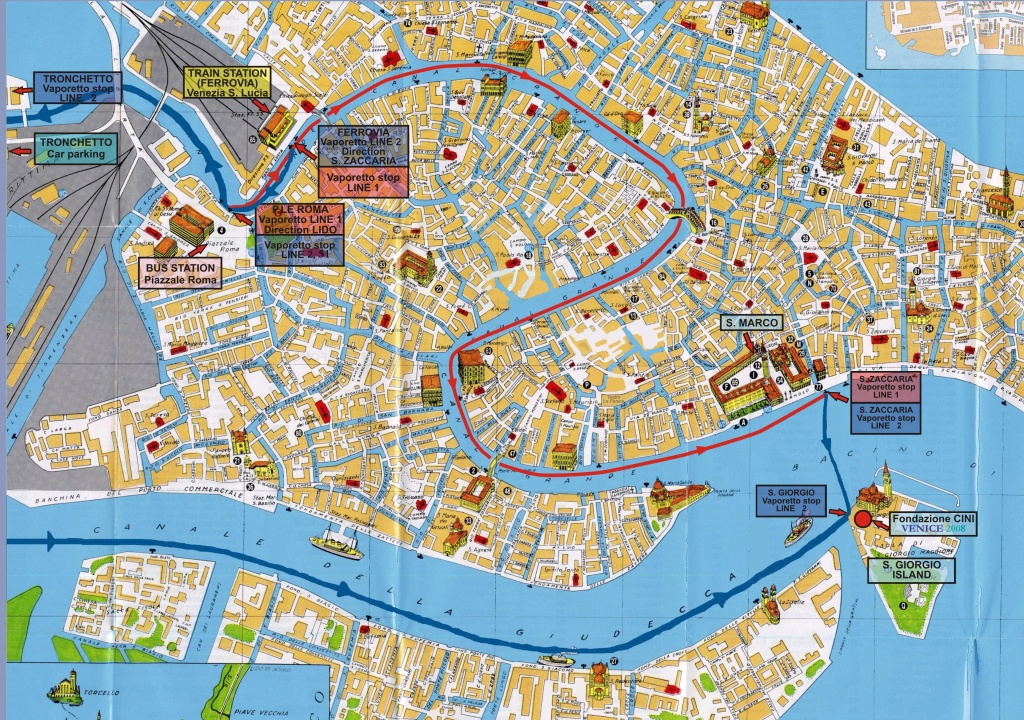 Large Venice Maps For Free Download And Print | High-Resolution And - Street Map Of Venice Italy Printable