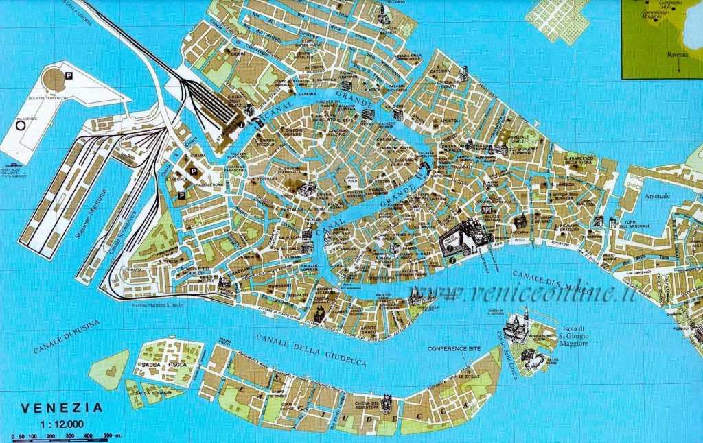 Large Venice Maps For Free Download And Print | High-Resolution And - Tourist Map Of Venice Printable